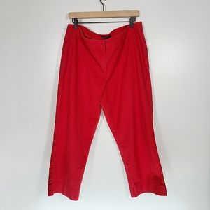 Lafayette 148 Barrow Red Cropped Dress Pants